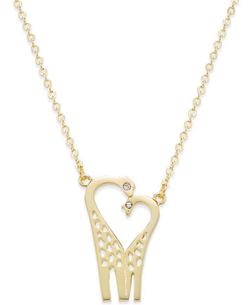 Kate spade new york 12k gold plated crystal double giraffe pendant image 1 of kate spade new york 12k gold plated crystal double giraffe pendant necklace mozeypictures Choice Image