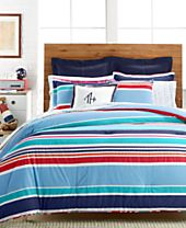 CLOSEOUT! Tommy Hilfiger Dunmore Stripe Bedding Collection, 100% Cotton, A Macy's Exclusive Style