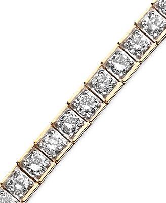 Diamond Bracelet in 10k Gold 5 ct t w Bracelets Jewelry