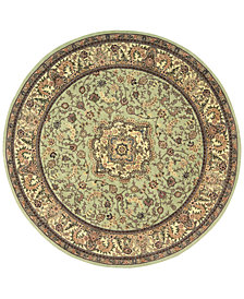 Nourison Wool & Silk 2000 2005 Light Green 4' Round Rug