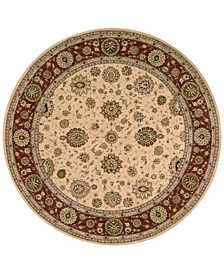 Wool and Silk 2000 2204 4' Round Rug