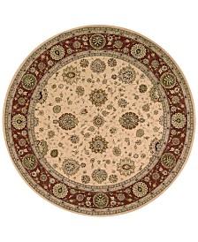 Nourison Wool & Silk 2000 2204 4' Round Rug