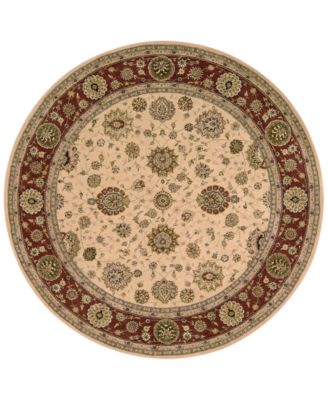 Captivating Nourison Wool U0026 Silk 2000 2204 8u0027 Round Rug