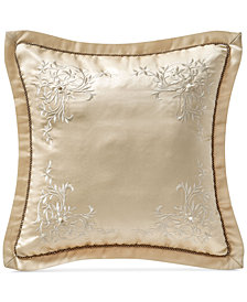 "CLOSEOUT! Waterford Copeland 16"" x 16"" Square Decorative Pillow"