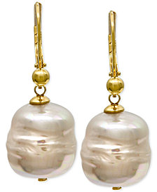 Majorica 18k Vermeil Imitation Baroque Pearl (12mm) Drop Earrings