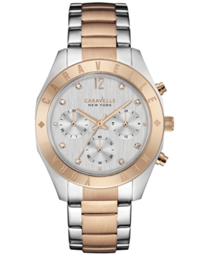 Caravelle New York by Bulova Women's Chronograph Two-Tone Stainless Steel Bracelet Watch 36mm 45L156