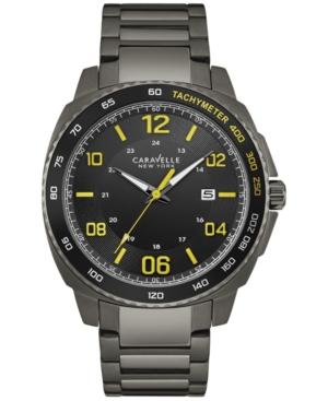 Caravelle New York by Bulova Men's Sport Gunmetal Stainless Steel Bracelet Watch 44mm 45B143