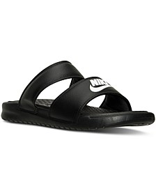Women's Benassi Duo Ultra Slide Sandals from Finish Line