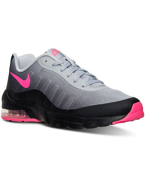 37a7991bc6 Nike Big Girls' Air Max Invigor Running Sneakers from Finish Line ...