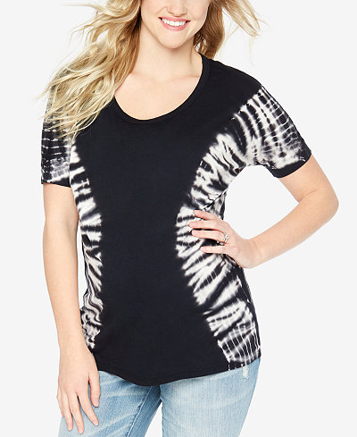 Wendy Bellissimo Maternity Tie-Dyed T-Shirt