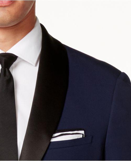 Perry Ellis Portfolio Slim-Fit Solid Navy Tuxedo   Reviews - Suits ... 2f74cc59e