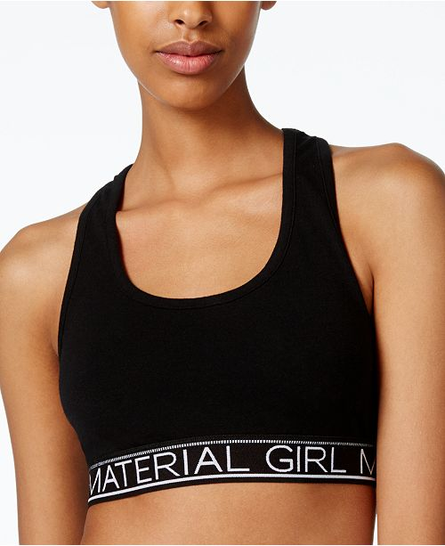 Material Girl Active Juniors' Low-Impact Racerback Sports Bra, Created for Macy's