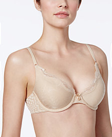 Maidenform One Fab Fit Embellished Scallop Neckline Demi Bra 9471