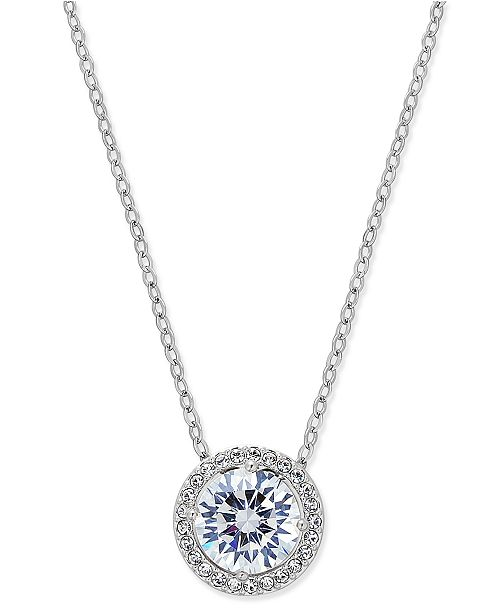 Eliot Danori Silver-Tone Crystal Pendant Necklace, Created for Macy's