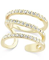 INC International Concepts Gold-Tone Triple Band Pavé Statement Ring, Created for Macy's