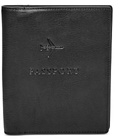 Men's Leather Embossed Passport Case