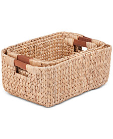 Honey Can Do 3-Pc. Rectangular Basket Set