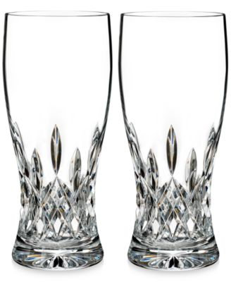 Lismore Collection Pint Glass Pair
