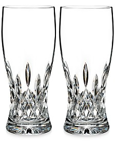 Waterford Lismore Collection Pint Glass Pair