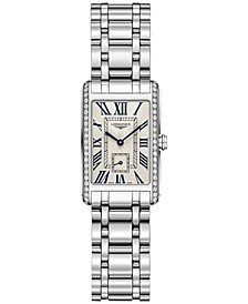 Women's Swiss DolceVita Diamond (3/8 ct. t.w.) Stainless Steel Bracelet Watch 21x32mm L52550716