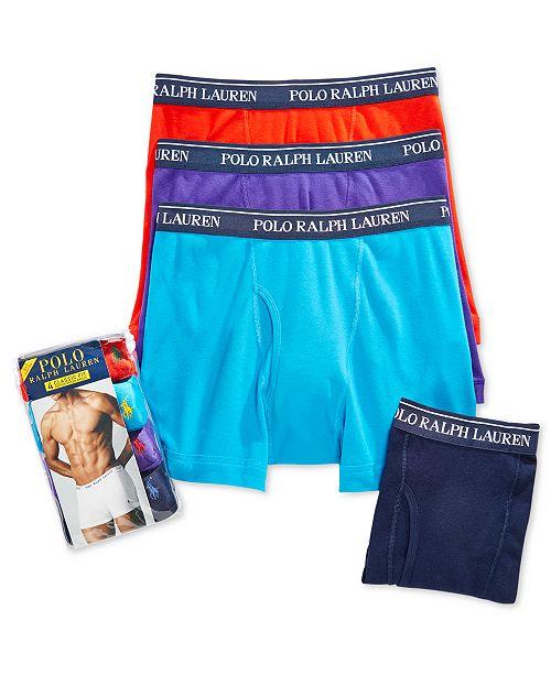 Polo Ralph Lauren Men's 3+1 Bonus Pack Boxer Briefs