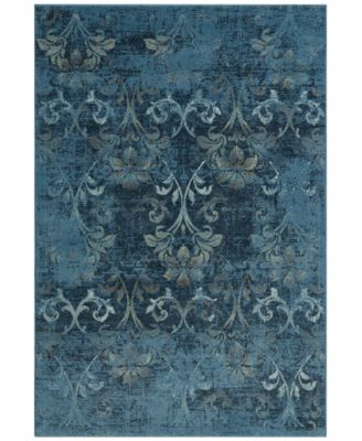 "CLOSEOUT! Menagerie MEN1244 Sky Blue 3'3"" x 5'1"" Area Rug"