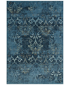 CLOSEOUT! D Style Menagerie MEN1244 Sky Blue Area Rugs
