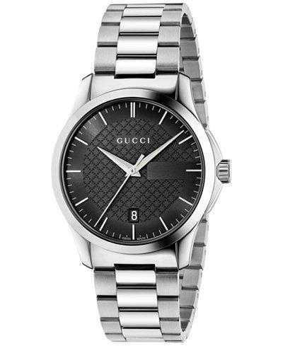 Gucci Unisex Swiss G-Timeless Stainless Steel Bracelet Watch 38mm YA126457