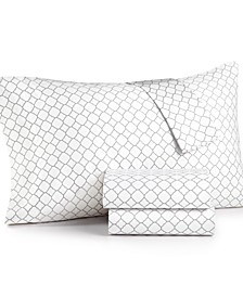 CLOSEOUT! Printed Geo King 4-pc Sheet Set, 500 Thread Count, Created for Macy's