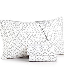 Charter Club Damask Designs Printed Geo Queen 4-pc Sheet Set, 500 Thread Count, Created for Macy's