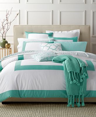 Charter Club Damask Designs Colorblock Teal Bedding Collection, Only at Macy's
