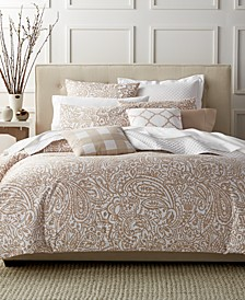 CLOSEOUT! Paisley Taupe Bedding Collection, Created for Macy's