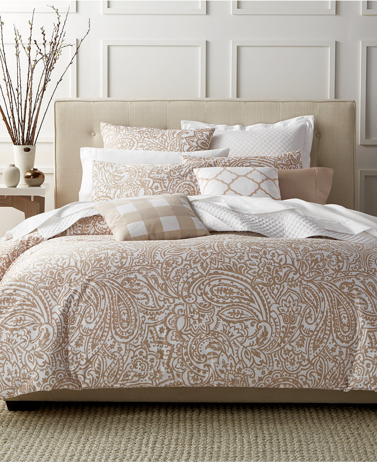 Damask bedding twin - Charter Club Damask Designs Paisley Taupe Bedding Collection Created For Macy S Bedding Collections Bed Bath Macy S