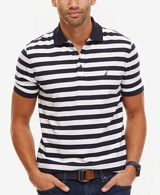 Nautica Big & Tall Men's Stripe Polo
