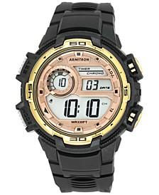 Men's Digital Chronograph Black Strap Watch 48mm 40-8347BKGD