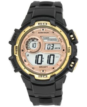 Armitron Men's Digital Chronograph Black Strap Watch