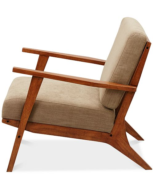 Furniture Axis Exposed Wood Accent Chair Quick Ship