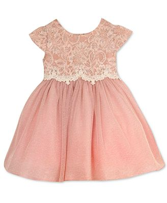 Rare Editions Baby Girls' Lace-Bodice Dress - Kids & Baby ...