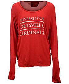 Retro Brand Women's Louisville Cardinals Chelsea Stacked Split-Back T-Shirt