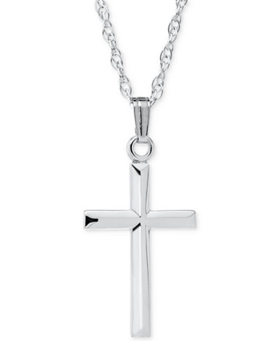 Three dimensional cross pendant necklace in sterling silver three dimensional cross pendant necklace in sterling silver aloadofball Gallery