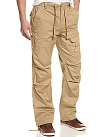 Men's Pleat Pocket Flight Cargo Pants, Created for Macy's