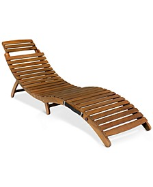 Selvin Outdoor Chaise Lounge, Quick Ship