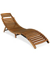 Wood Outdoor Lounge Chairs Outdoor Chaise Lounges Macy S