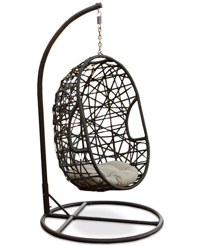 Carlan Wicker Swing Chair, Quick Ship