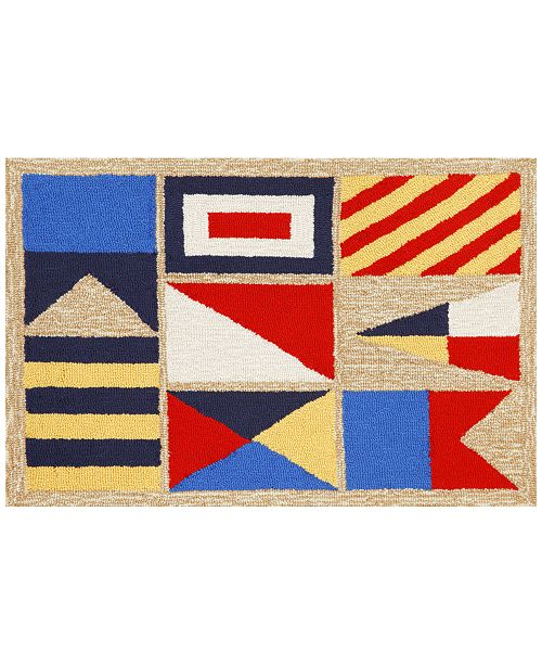 Liora Manne' Liora Manne Front Porch Indoor/Outdoor Signal Flags Natural 2'6'' x 4' Area Rug