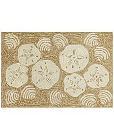 Liora Manne Front Porch Indoor/Outdoor Shell Toss Natural 2' x 3' Area Rug