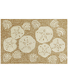 Liora Manne Front Porch Indoor/Outdoor Shell Toss Natural Area Rug