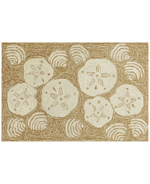Liora Manne' Liora Manne Front Porch Indoor/Outdoor Shell Toss Natural Area Rug
