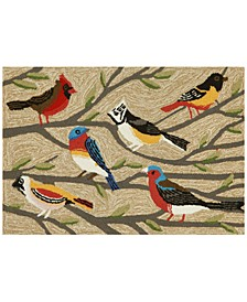 Liora Manne Front Porch Indoor/Outdoor Birds Multi 2' x 3' Area Rug