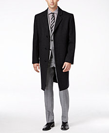London Fog Signature Wool-Blend Overcoat